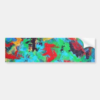 Splash-Hand Painted Abstract Brushstrokes Bumper Sticker