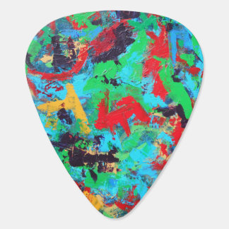 Splash-Hand Painted Abstract Brushstrokes Guitar Pick