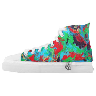 Splash-Hand Painted Abstract Brushstrokes High Tops