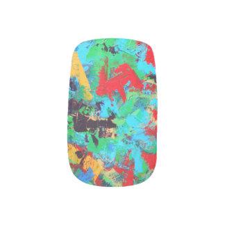 Splash-Hand Painted Abstract Brushstrokes Minx Nail Art