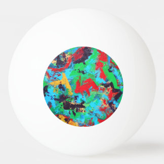 Splash-Hand Painted Abstract Brushstrokes Ping Pong Ball