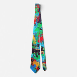 Splash-Hand Painted Abstract Brushstrokes Tie