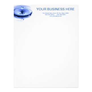 Splash Letterhead