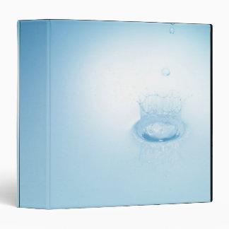 Splash made by water drop vinyl binders