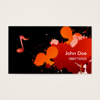 Splash Music Business Card