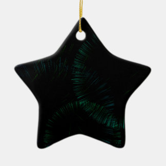 Splash of color ceramic star ornament