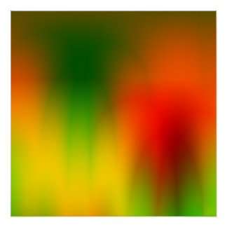 Splash of Color Red Green and Yellow Perfect Poster