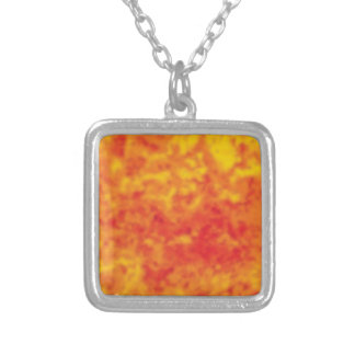 splash of heat silver plated necklace