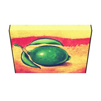 Splash of lime canvas print