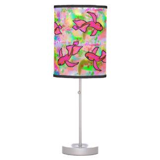 Splash of Pink Koi Lamp