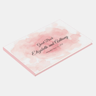 Splash of Pink Wedding Guest Book