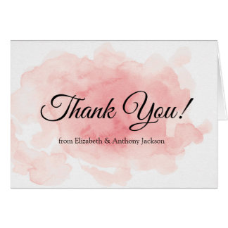 Splash of Pink Wedding Thank You Card