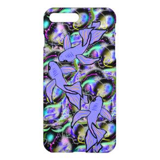 Splash of Purple Koi iPhone Cover