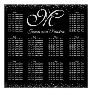 Splash of Silver Wedding Seating Chart