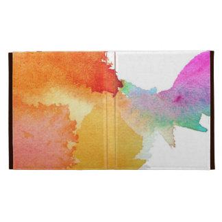 Splash of Watercolor iPad Folio Cases