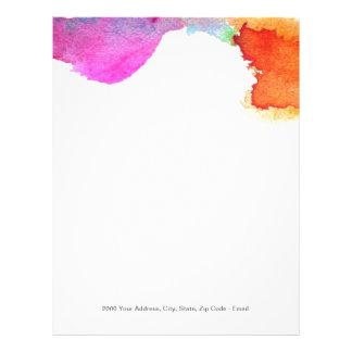 Splash of Watercolor Customized Letterhead