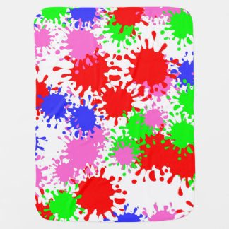Splash Paint Baby Blanket