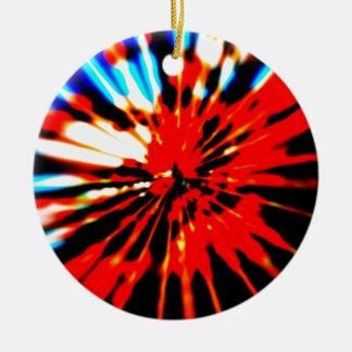 Splash Pattern Abstract Design Round Ceramic Ornament