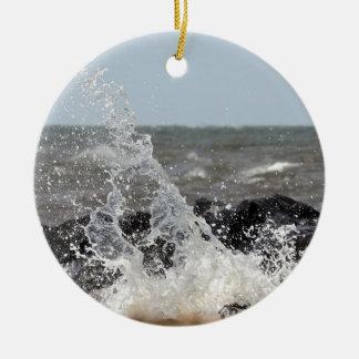 Splash Round Ceramic Ornament
