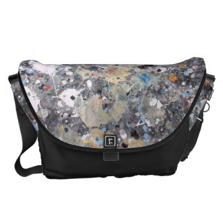 Splashed Abstract Courier Bag
