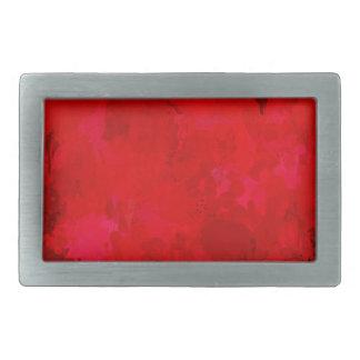 splashes of color, deep red rectangular belt buckles