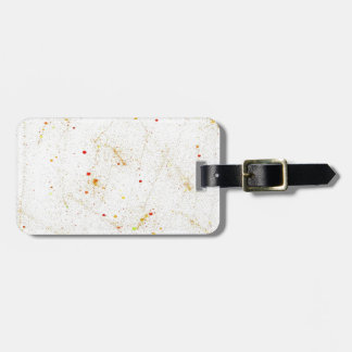 splashes of color luggage tag