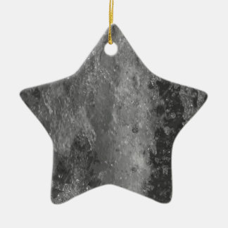 Splashes of fountain water (black and white) ceramic star ornament