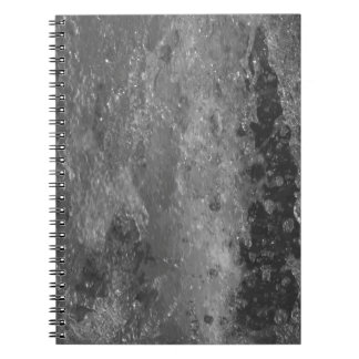 Splashes of fountain water (black and white) notebook