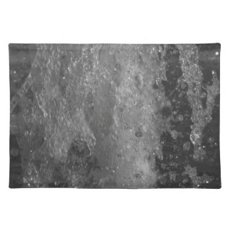 Splashes of fountain water (black and white) placemat