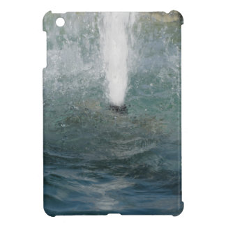 Splashes of fountain water in a sunny day case for the iPad mini