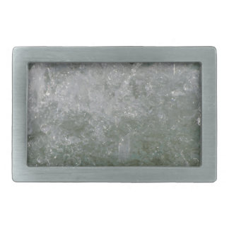 Splashes of fountain water in a sunny day rectangular belt buckles