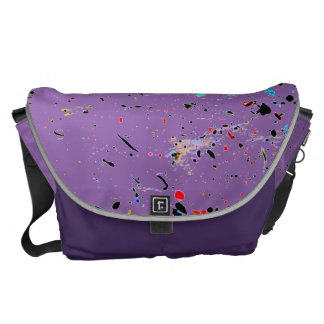 Splashes of Paint Abstract Art Courier Bag