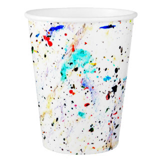 Splashes of Paint Abstract Art Paper Cup