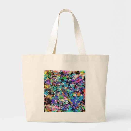 Splashes of Paint Large Tote Bag