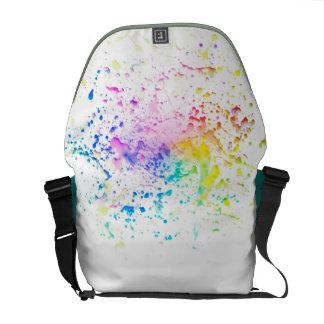 Splashes of watercolour messenger bag