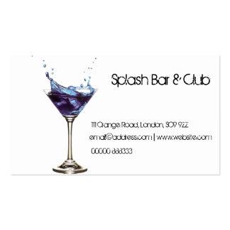 Splashing Cocktail Business Card