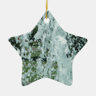Splashing Fountain Water Ceramic Ornament