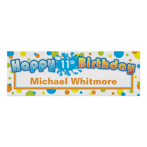 Splashing Fun in the Sun Birthday Banner Poster