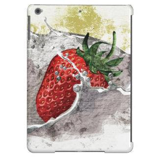 Splashing Strawberry iPad Air Cover