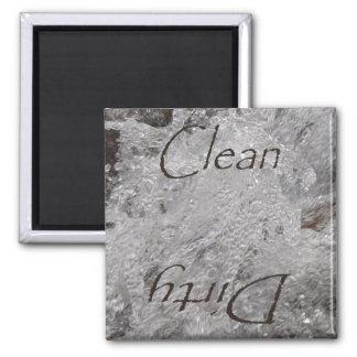 Splashing Water Clean Dirty Dishwasher Magnet