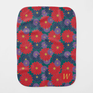 Splashy Fall Floral Burp Cloth