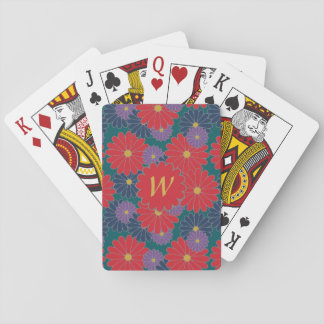 Splashy Fall Floral Classic Playing Cards