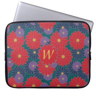 Splashy Fall Floral Laptop Sleeve