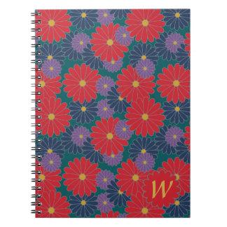 Splashy Fall Floral Notebook