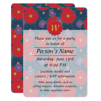 Splashy Fall Floral Party Invitation