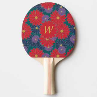Splashy Fall Floral Ping Pong Paddle