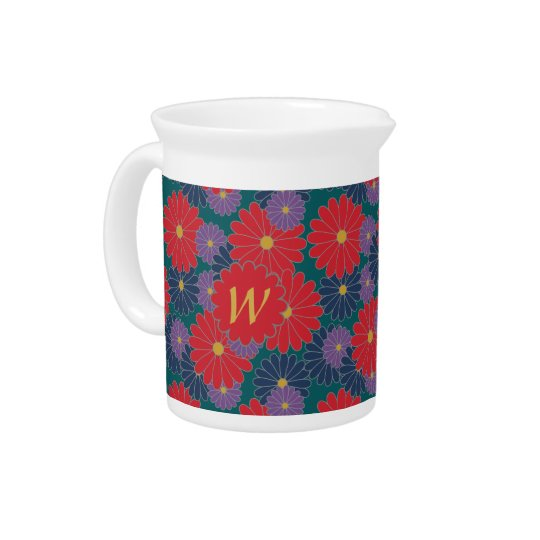 Splashy Fall Floral Pitcher