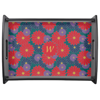 Splashy Fall Floral Serving Tray