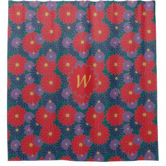 Splashy Fall Floral Shower Curtain
