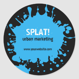 Splat! Blue Sticker